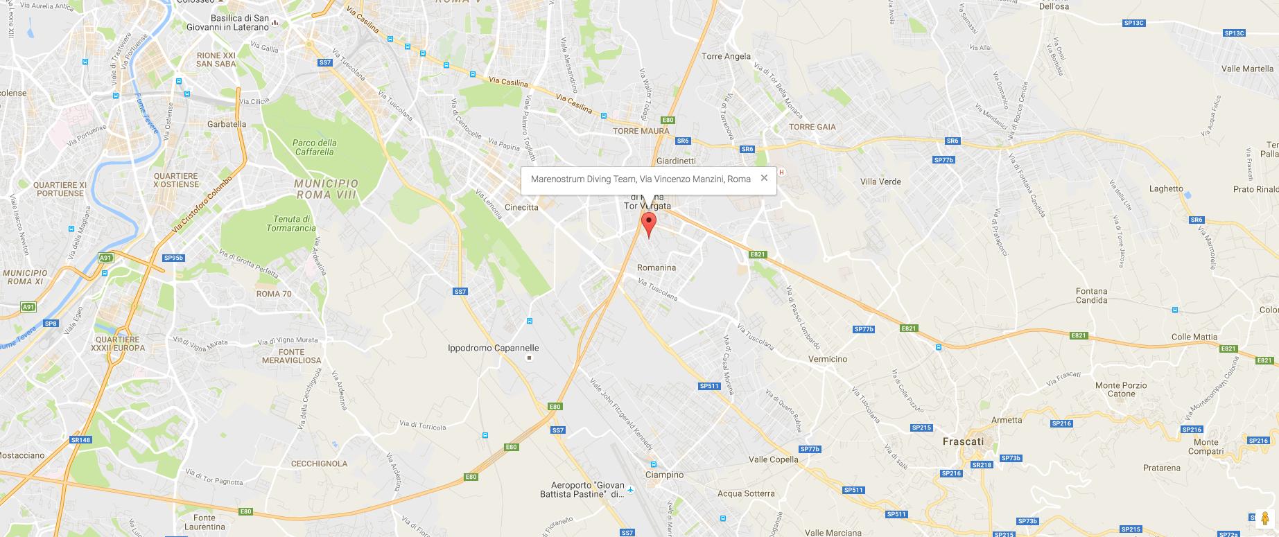 Corsi Sub Roma Sede dei Corsi Subacquei